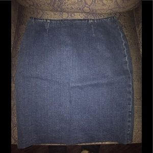 Lauren Jeans Company Stretch Denim Skirt Size 10